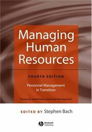 Managing Human Resources; Personnel Management in Transition