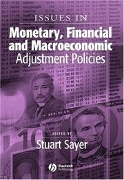 Issues in Monetary, Financial and Macroeconomic Adjustment Policies (Surveys of Recent Research in Economics) PDF