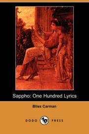 Sappho by Bliss Carman