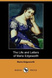 The life and letters of Maria Edgeworth PDF