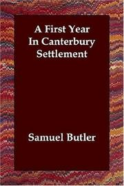 A First Year in Canterbury Settlement PDF