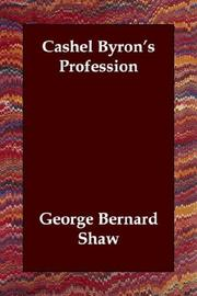 Cover of: Cashel Byron&#39;s Profession by George Bernard Shaw