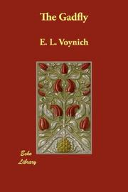 The Gadfly by E. L. Voynich