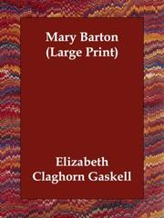 Cover of: Mary Barton by Elizabeth Cleghorn Gaskell