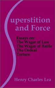 Superstition and force by Henry Charles Lea