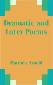 Dramatic and Later Poems PDF