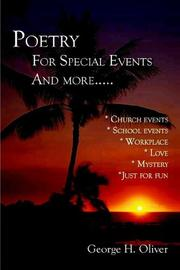 Poetry For Special Events and more.... PDF