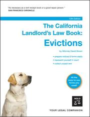 The California landlord's law book by David Wayne Brown