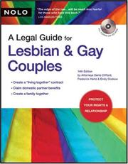 A Legal Guide for Lesbian & Gay Couples by Denis Clifford