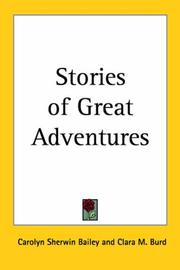 Cover of: Stories of Great Adventures by Carolyn Sherwin Bailey