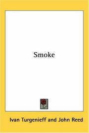 Cover of: Smoke by Ivan Sergeevich Turgenev, John Reed