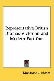 Representative British Dramas Victorian and Modern Part One PDF