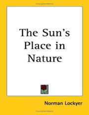 The Sun's Place in Nature PDF