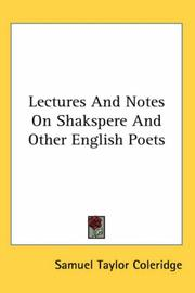 Lectures and notes on Shakspere and other English poets PDF