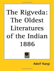 The Rigveda by Adolf Kaegi