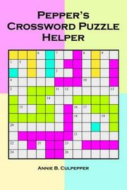 Pepper's Crossword Puzzle Helper PDF