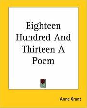 Eighteen Hundred And Thirteen A Poem PDF