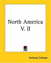 Cover of: North America by Anthony Trollope