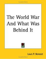The World War And What Was Behind It PDF