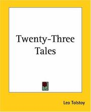 Twenty-three tales by Leo Tolstoy