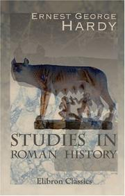 Studies in Roman history by Ernest George Hardy