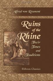 Ruins of the Rhine. Their Times and Traditions PDF