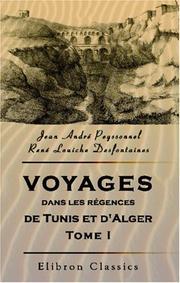 Voyages dans les régences de Tunis et d/Alger