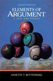 Elements of Argument by Annette T. Rottenberg