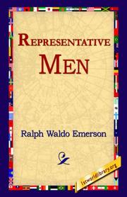 Cover of: Representative Men by Ralph Waldo Emerson