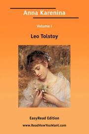 Anna Karenina, Volume 1 PDF