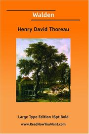 Cover of: Walden (Large Print) by Henry David Thoreau
