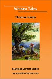 Cover of: Wessex Tales [EasyRead Comfort Edition] by Thomas Hardy