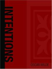 Cover of: Intentions (Large Print Edition) by Oscar Wilde