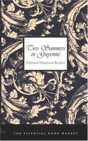 Two Summers in Guyenne PDF