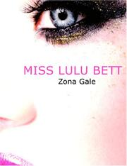 Cover of: Miss Lulu Bett (Large Print Edition) by Zona Gale