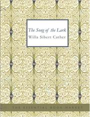 Cover of: The Song of the Lark (Large Print Edition) by Willa Cather