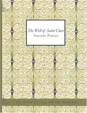 The well of Saint Clare by Anatole France