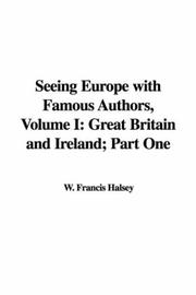 Seeing Europe with Famous Authors, Volume I PDF