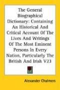 The General Biographical Dictionary PDF