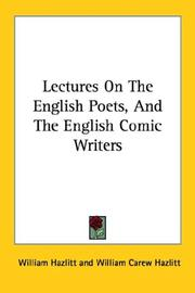 Lectures On The English Poets, And The English Comic Writers PDF