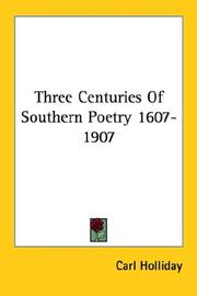 Three centuries of southern poetry (1607-1907) PDF