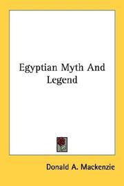 Egyptian Myth And Legend PDF