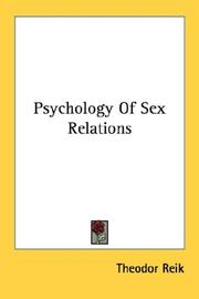 Psychology Of Sex Relations PDF