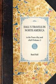 Hall's Travels in North America PDF