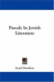 Parody in Jewish literature by Israel Davidson