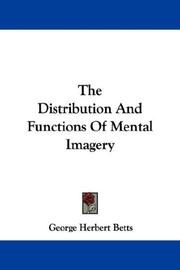 The Distribution And Functions Of Mental Imagery PDF