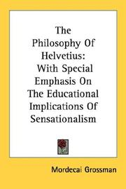 The philosophy of Helvetius by Mordecai Grossman