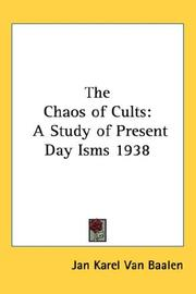 The chaos of cults by Jan Karel Van Baalen