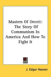 Masters of deceit by John Edgar Hoover