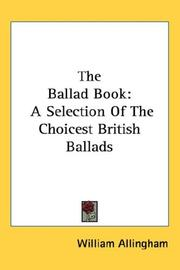The ballad book by William Allingham